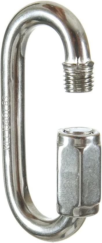 """Fusion Climb 3//16/"""" Oval Quick Link Stainless Steel 660 lbs WLL Silver 5-Pack"""