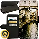 Flip Wallet Case for iPhone 8 (Vintage Venice Italy) with Adjustable Stand and 3 Card Holders   Shock Protection   Lightweight   Includes Free Stylus Pen by Innosub