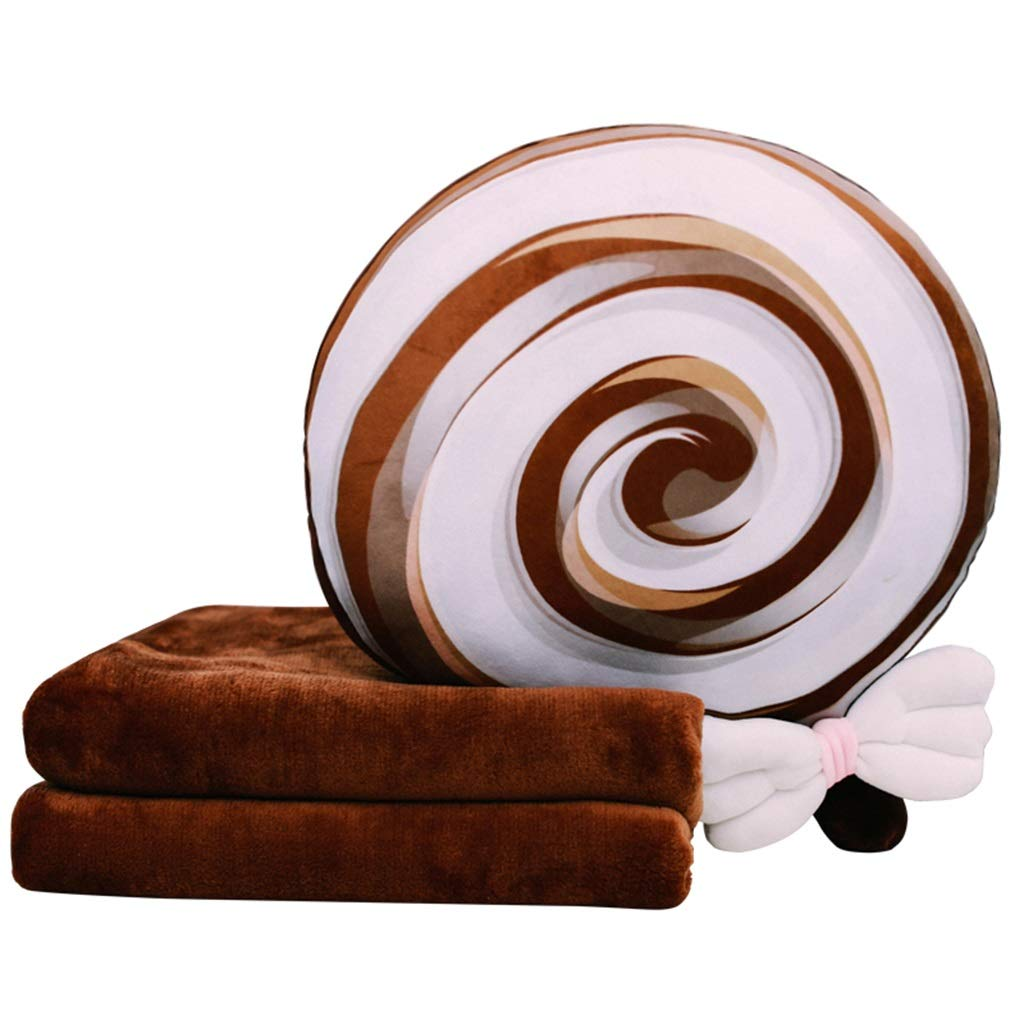 Throw Pillows Pillow Pillow Brown Pillow Cushion Pillow Quilt Dual-use Office Napping Pillow Cute Car Cushion Sofa Cushion Coral Fleece Warm Hands (Color : Brown, Size : 354810cm(14194in))