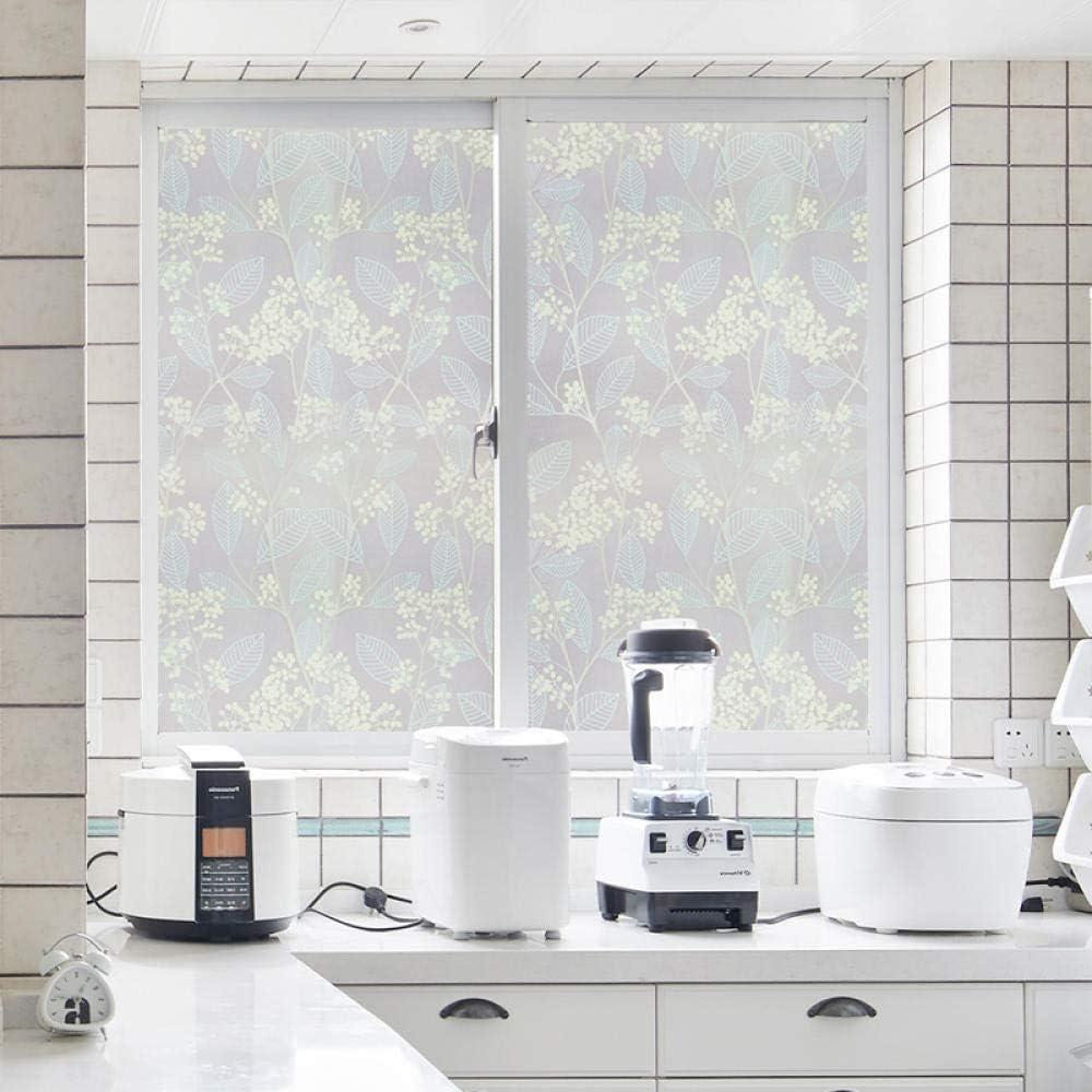 CMHK Película para Ventanas Etiqueta Adhesiva de Limpieza estática Etiqueta de Vidrio Cortina de privacidad Baño Ventana Etiqueta de Vidrio de Cocina @ 50x200cm: Amazon.es: Hogar