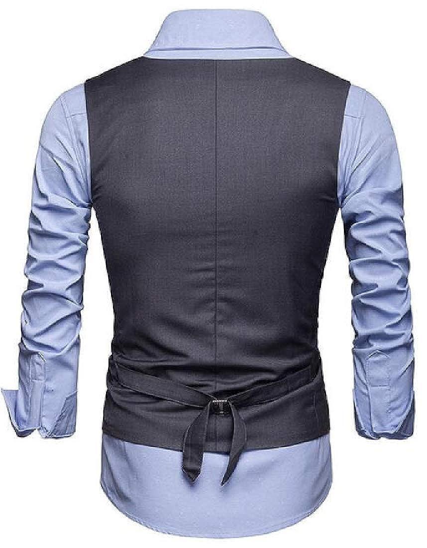 KLJR Men Formal Pure Color Slim Fit Single Breasted Dress Suit Tuxedo Vest
