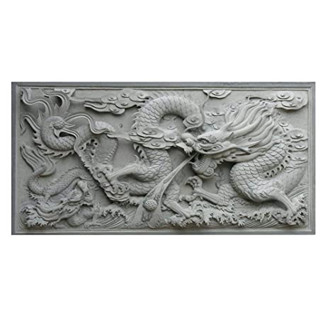 Acuario Fondo HD Dragon 3D Chino Antiguo Estilo PVC póster fácil de aplicar Wallpaper Fish Tank