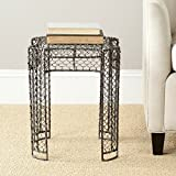 Safavieh Dmitri Steelworks Iron Links Side Table, Brown