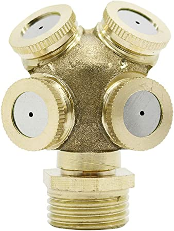 Adjustable Brass Spray Misting Gardening Sprinklers Irrigation 1 2 3 4 Holes