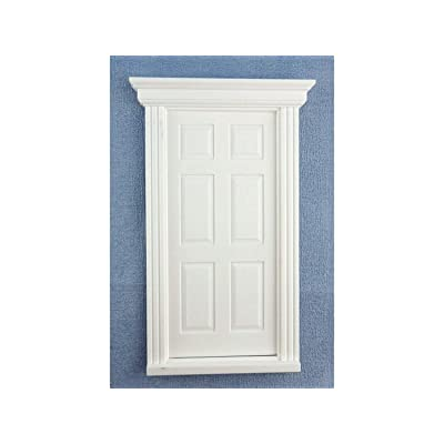 Melody Jane Dolls House White Plastic 6 Panel Georgian Door 1:24 Scale DIY Builders: Toys & Games [5Bkhe0503570]
