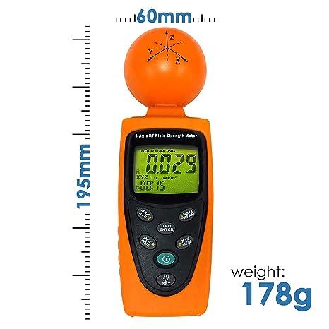 RF-3GZ Triple Axis RF Medidor de potencia/detector de medición de 50 MHz a 3,5 GHz HF EMF Radiación (ElectroSmog) – Teléfonos celulares/torres, Smart ...