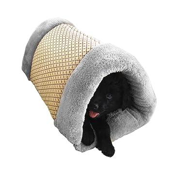 BXT Double funciones mascotas Esterilla y caseta gato Puppy Cojín extraíbles Lavado Bar Sacos de dormir para cachorros para dormir, ...