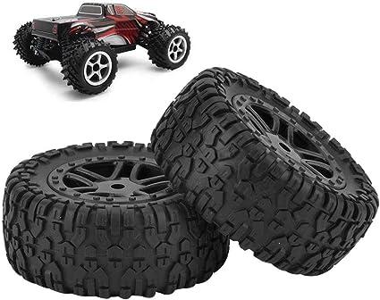 Vgeby1 2 Stücke Spielzeug Auto Reifen Px Rc Lkw Gummirad Reifen Mit Nabe Für 9301 1 18 Modellauto Sport Freizeit