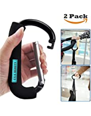 "2X Black 6.3"" Large Buggy Clips for Pram & Pushchair, Shopping Secure Hooks - 16cm (6.3"")"
