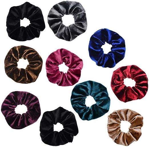 AMOYER 10 Pack Surtido de Terciopelo Lazos del Pelo Scrunchy para la Mujer elástico del Pelo del Pelo Cuerdas Scrunchies: Amazon.es: Hogar
