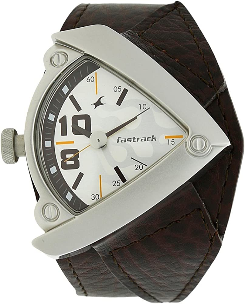 Fastrack Men s Casual Wrist Watch with Analog Function,Quartz Mineral Glass, Water Resistant Leather Strap