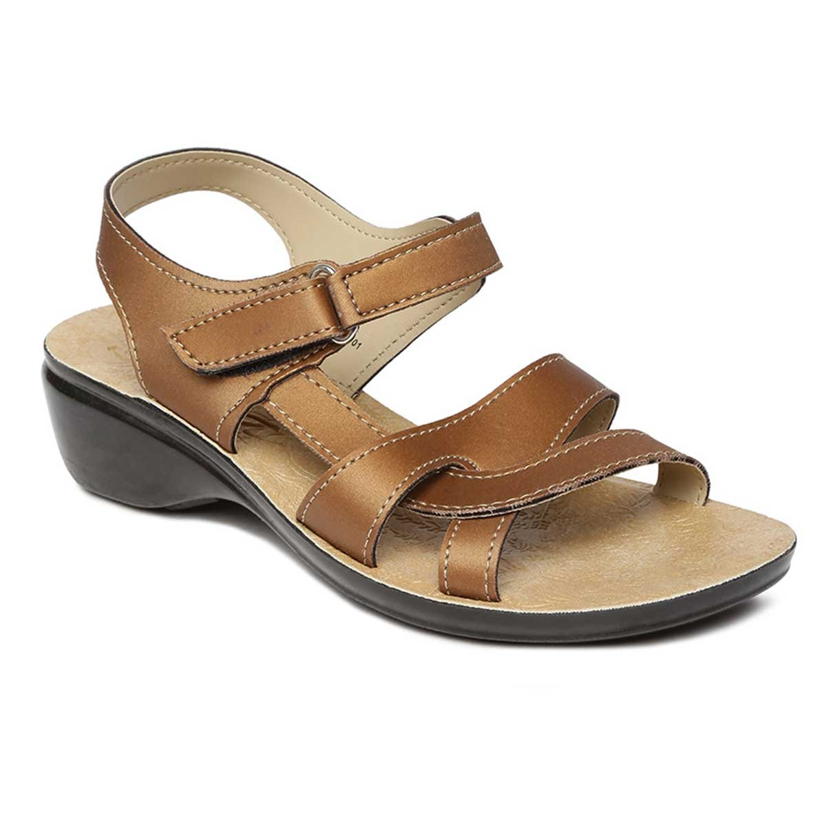 5751d2afc PARAGON SOLEA Women s Brown Sandals  Buy Online at Low Prices in India -  Amazon.in