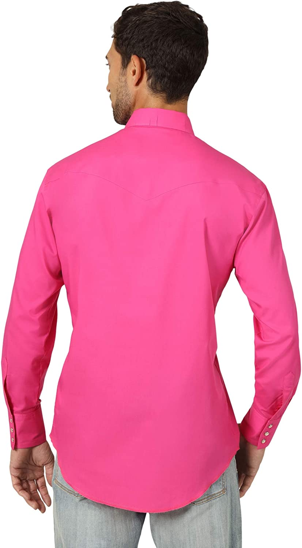 Wrangler Mens Long Sleeve Sport Western Snap Shirt