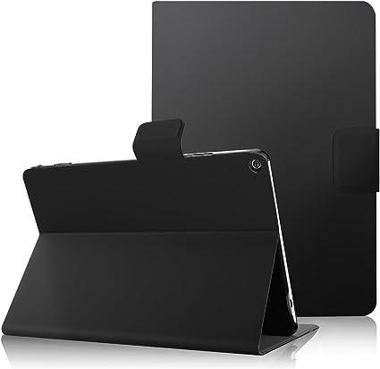 IVSO Huawei MediaPad M3 Lite 10 Cover Custodia - Slim-Book Case Custodia Protettiva in Pelle PU per Huawei MediaPad M3 Lite 10 Tablet, Nero