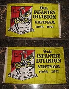 2x 39th división de infantería bandera de Vietnam 2cara de doble capa resistente al viento 2x 3ft Premium Vivid color y UV decoloración mejor jardín Outdor Decor lienzo resistente al cabecera y poliéster MATERIAL bandera