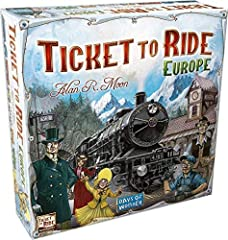 From the craggy hillsides of Edinburgh to the sunlit docks of Constantinople, from the dusty alleys of Pamplona to a windswept station in Berlin, ticket to ride Europe takes you on an exciting train adventure through the great cities of turn-...