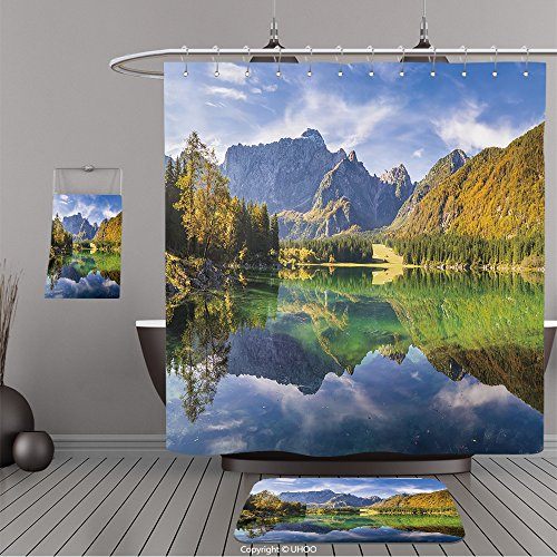 Frontgate Beige Rug (Uhoo Bathroom Suits & Shower Curtains Floor Mats And Bath Towels 372255535 High resolution panorama of the lake in the Julian Alps, Italy For Bathroom)