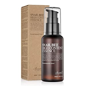 BENTON Snail Bee High Content Essence 60ml (2.02 fl. oz.) - Snail Secretion Filtrate & Bee Venom Contained Moisturizing Gel for Oily, Combination, Acne-Prone Skin, Dermatologically Tested