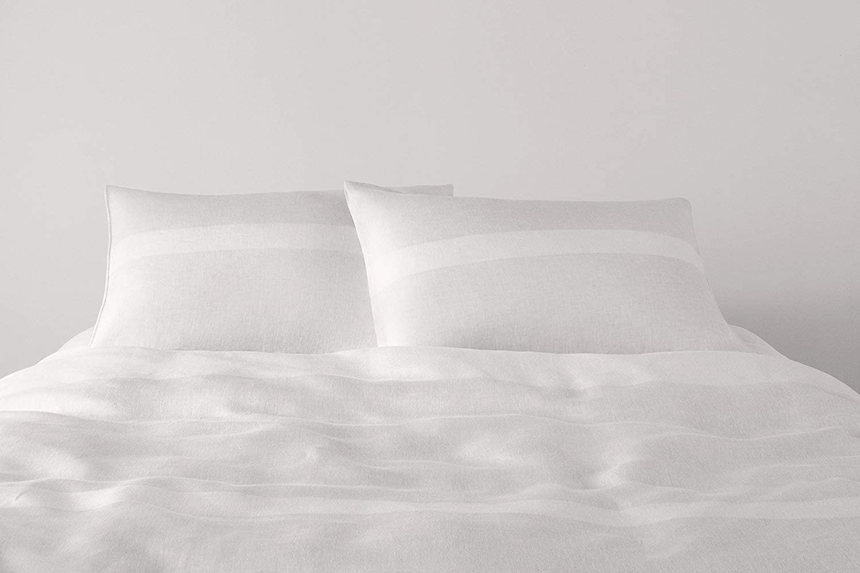 Calvin Klein Home 1110098-KG-L1-D3 Pillowcase, King, Linen, 2 Piece