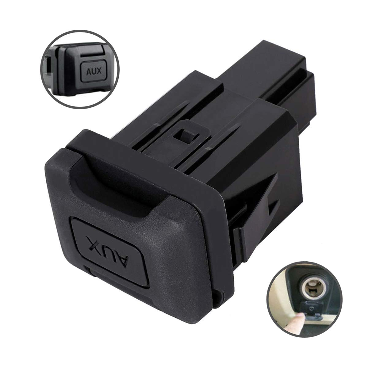 Auxiliary Input Jack Aux Port for Honda Civic 2006, 2007, 2008, 2009, 2010, 2011 Stereo Adaptor Replaces Part 39112-SNA-A01 39112SNAA01 by KanSmart