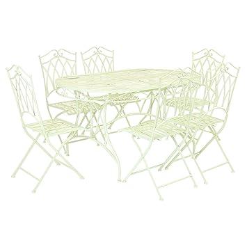 Bentley Garden - Salon de jardin avec table et 6 chaises - fer forgé ...