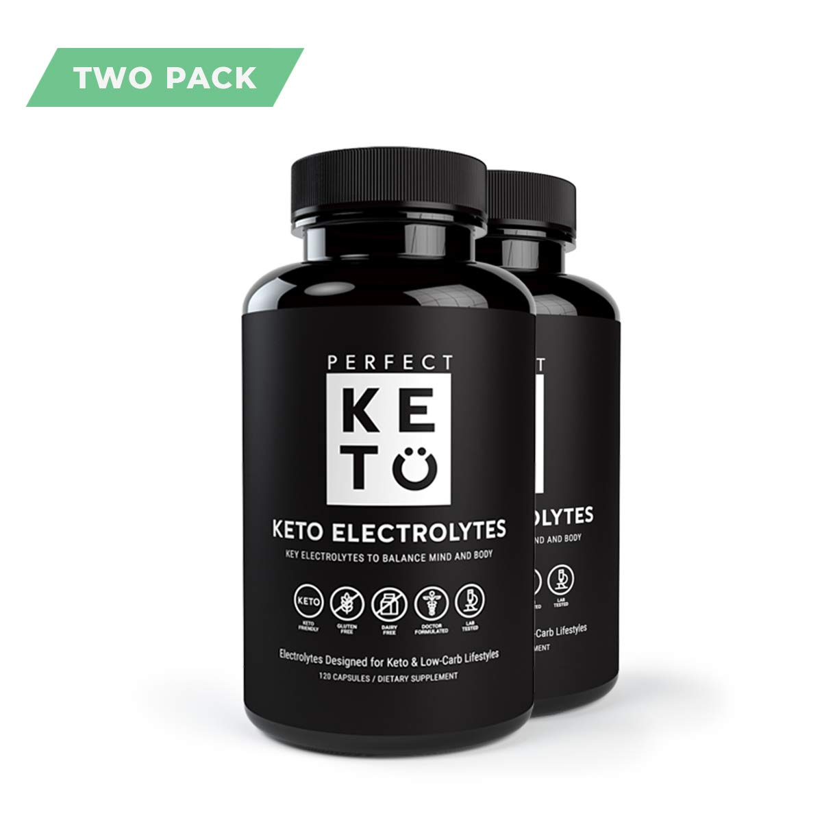 Perfect Keto Flu Electrolyte Supplement: Electrolytes Capsules for Low Carb Diet or Ketogenic Diet to Balance Mind & Body. Energy Supplements, Sodium, Potassium, Magnesium (2 Bottles, 240 Count) by Perfect Keto