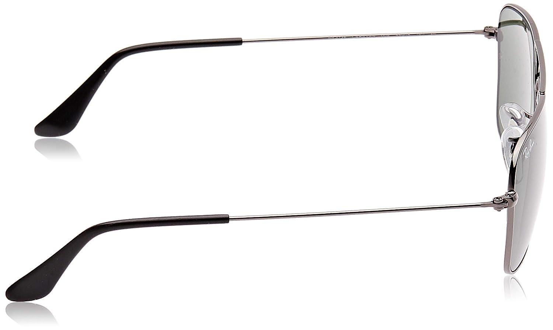 Ray-Ban RB3136 Caravan Square Sunglasses, Gunmetal/Green, 55 mm