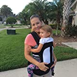 veenev Ergonomic Baby Carrier for Infants and Toddlers, 3 Carrying Positions, 100% Cotton Machine Washable, Adjustable Baby Sling Carrier, Makes the Perfect Baby Shower Gift