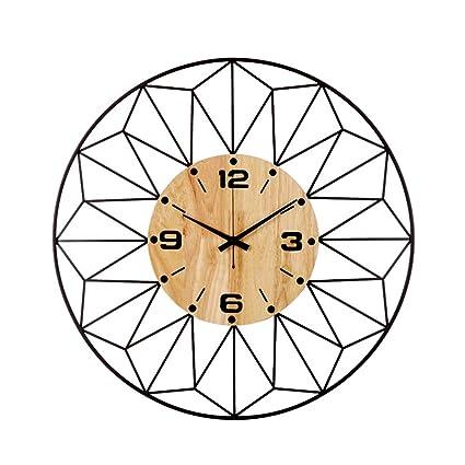 Sala de estar Reloj de pared Ambiente redondo Mudo Reloj Sala de estar Dormitorio Pared Reloj