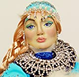 Handmade Doll Snow Queen Polymer Clay Unique Author Gift Home Decor