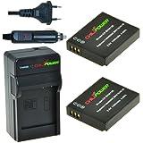 2x Batería + Cargador ChiliPower Panasonic DMW-BCM13, DMW-BCM13E, DMW-BCM13PP 1250mAh para Panasonic Lumix DMC-TS5, DMC-TZ37, DMC-TZ40, DMC-TZ41, DMC-ZS27, DMC-ZS30, DMC-FT5