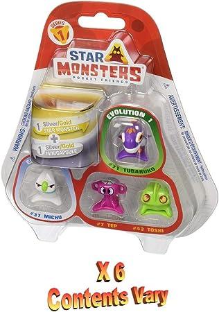 Star Monsters 6x Magic Box Series 1 Blister Packs of 5
