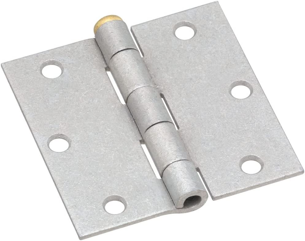 National Hardware N208-835 V504 Removable Pin Broad Hinges in Galvanized 2 pack