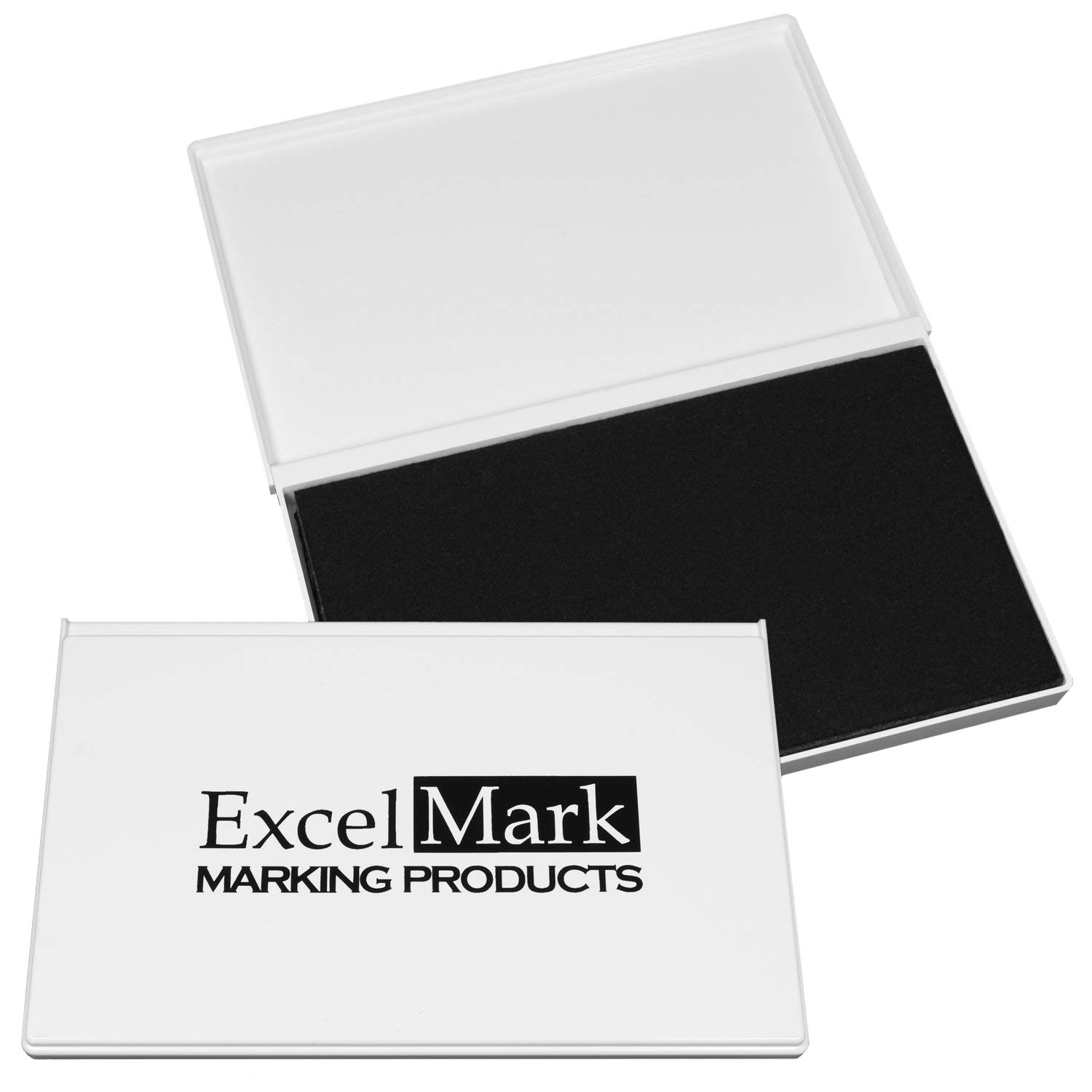 """ExcelMark Rubber Stamp Ink Pad Extra Large 4-1/4'' by 7-1/4"""" (Black)"""