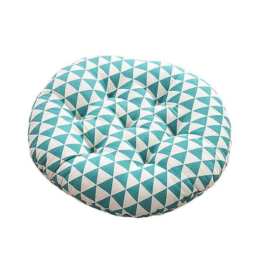 Cojines de asiento Cojín Circular Azul Triángulo Patrón ...