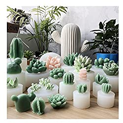 3D Silicone Succulent Cactus Candles Handmade Mold