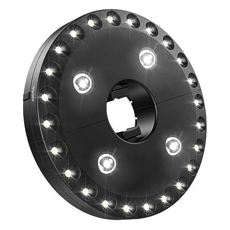 28 LEDs Luces para Sombrilla de Patio, Parasol de Jardin, IIluminación Nocturna Portable para