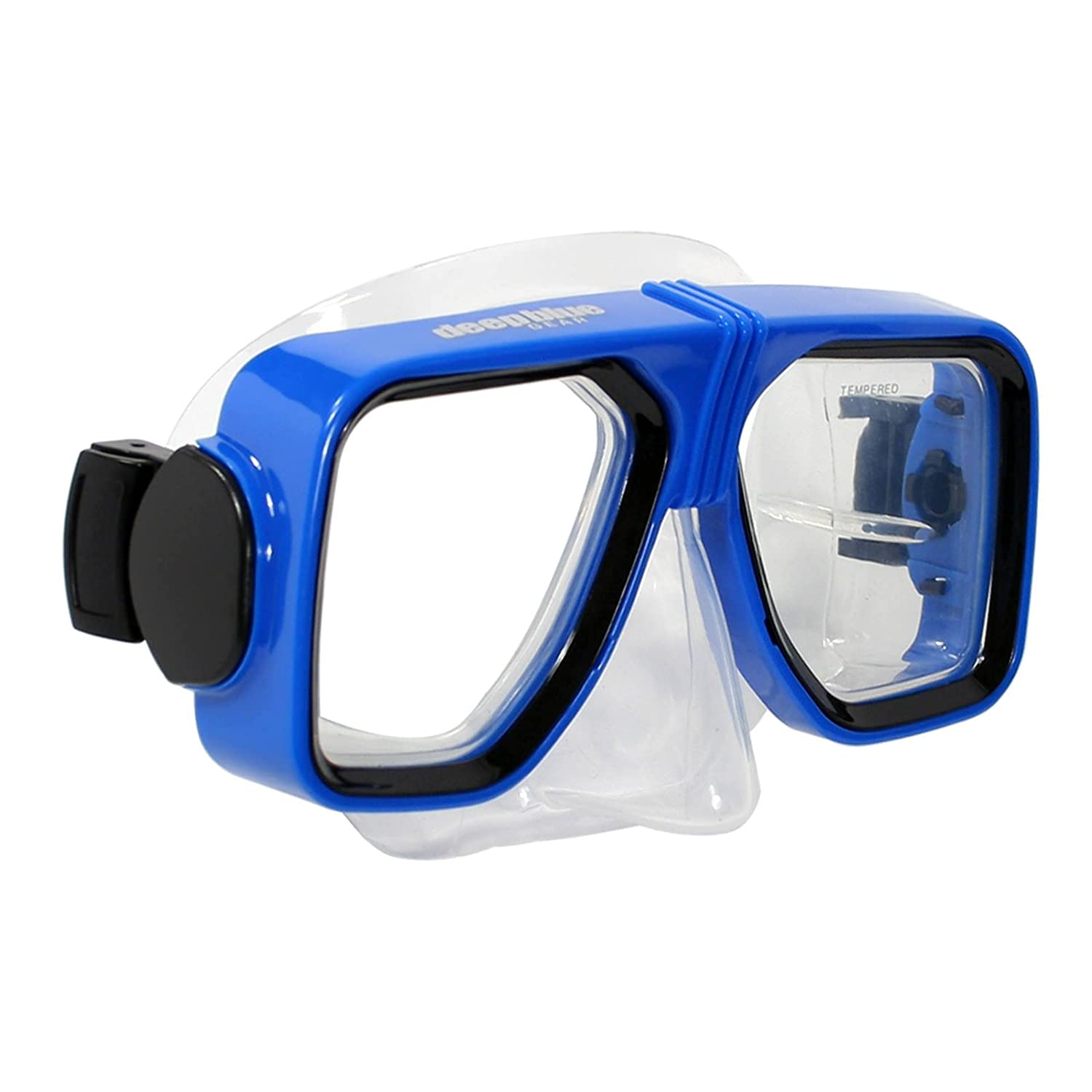 cb130a035c Amazon.com   Deep Blue Gear - Prescription Diving Snorkeling Mask (Spirit  2) with Optical Corrective Lenses for Diving or Snorkeling   Sports    Outdoors