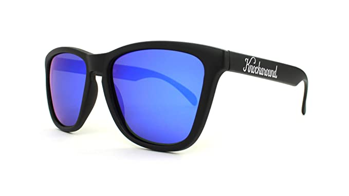 3af0a0330b90 Knockaround Classics Polarized Sunglasses With Matte Black Frames/Blue  Reflective Lenses