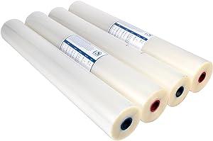 USI Opti Clear Premium Thermal Low-Temp EVA Roll Laminating Film, 1 Inch Core, 3 Mil, 27 Inches x 250 Feet, Gloss Finish, 4-Pack