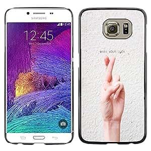 Dragon Case - FOR Samsung Galaxy S6 - wish you luck - Caja protectora de pl??stico duro de la cubierta Dise?¡Ào Slim Fit