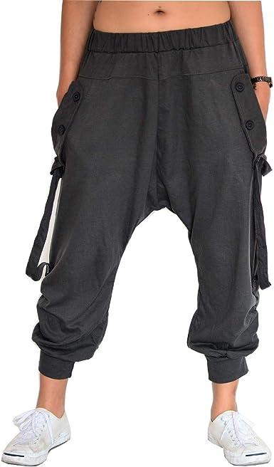 SHC Pantalones Harem Mujer y Hombre Pantalones Aladin 100% algodón ...