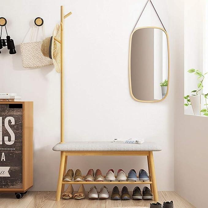 K-Y Perchero de pie Perchero con Banco for Zapatos, for ...