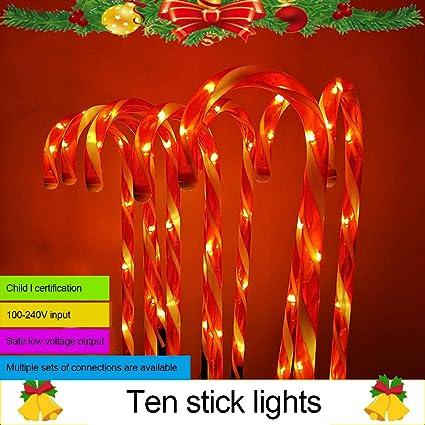 OSALADI Zuckerstangen Lichterketten Weihnachtsweg Marker LED Landschaftsbeleuchtung Batteriebetrieben Wasserdicht f/ür Party Garten Weihnachtsgeschenke 2Er Pack