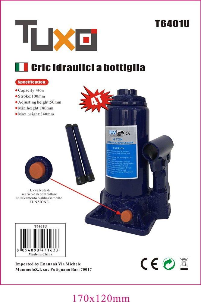 Cric idraulico a bottiglia 4T