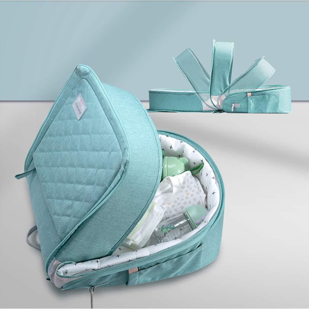 Cuna De Viaje Plegable Durmiente Suave Y Y Y Coacute;moda Cuna De Viaje Multifuncional Se Puede Convertir En Una Bolsa (Color : Blue, Size : 87x29x14cm) 35857b