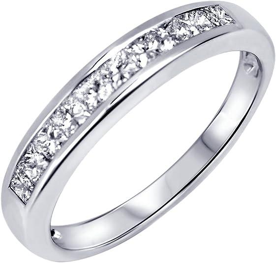 Aion Memoire – Anillo de diamante oro blanco 18 quilates (750) con ...