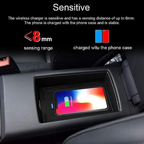 10W Chargeur Sans Fil Voiture pour Audi A3S3 2016 2018