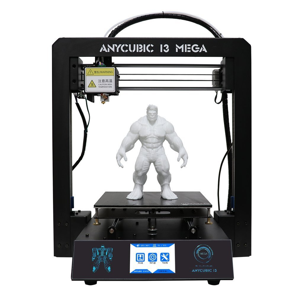 Full Metal 3D PRINTER with Heated Base and 3.5 inch Touch Screen
