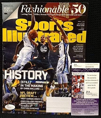 STEPHEN CURRY Signed Autograph Golden State Warriors SI Magazine. JSA - Autographed NBA Magazines